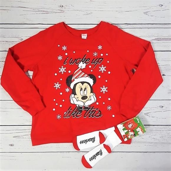 34d57865ed9f6 Peanuts Snoopy Sweatshirt and Sock Set Red Size XL